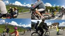 Pollution de l'air rassemblement à vélo Chedde 74190 Passy Chamonix Vallée de l'Arve
