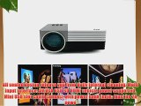 Aketek Latest Multimedia USB/SD/VGA/HDMI/AV/Micro USB Home Cinema Theater Movie Projector LED