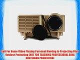 Aketek UC28 24W PRO Portable SD / USB / AV / VGA /HDMI Port Mini Home LED Projector 60 Cinema