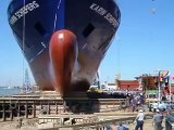 Ship Launch at Damen Shipyard Galati, Romania
