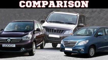 Renault Lodgy vs Toyota Innova vs Mahindra Xylo: Comparison