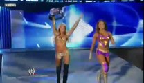 WWE Raw 7/25/11 Eve Torres And Kelly Kelly vs Maryse and Melina