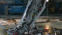 Battle Damage - Giant Star Wars LEGO Super Star Destroyer Shattered