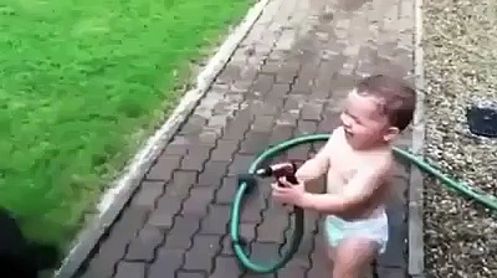 Baby Playing With Pet Animal