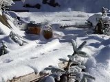 Snow blower Dampfschneeschleuder RhB X rote LGB RhB Gartenbahn