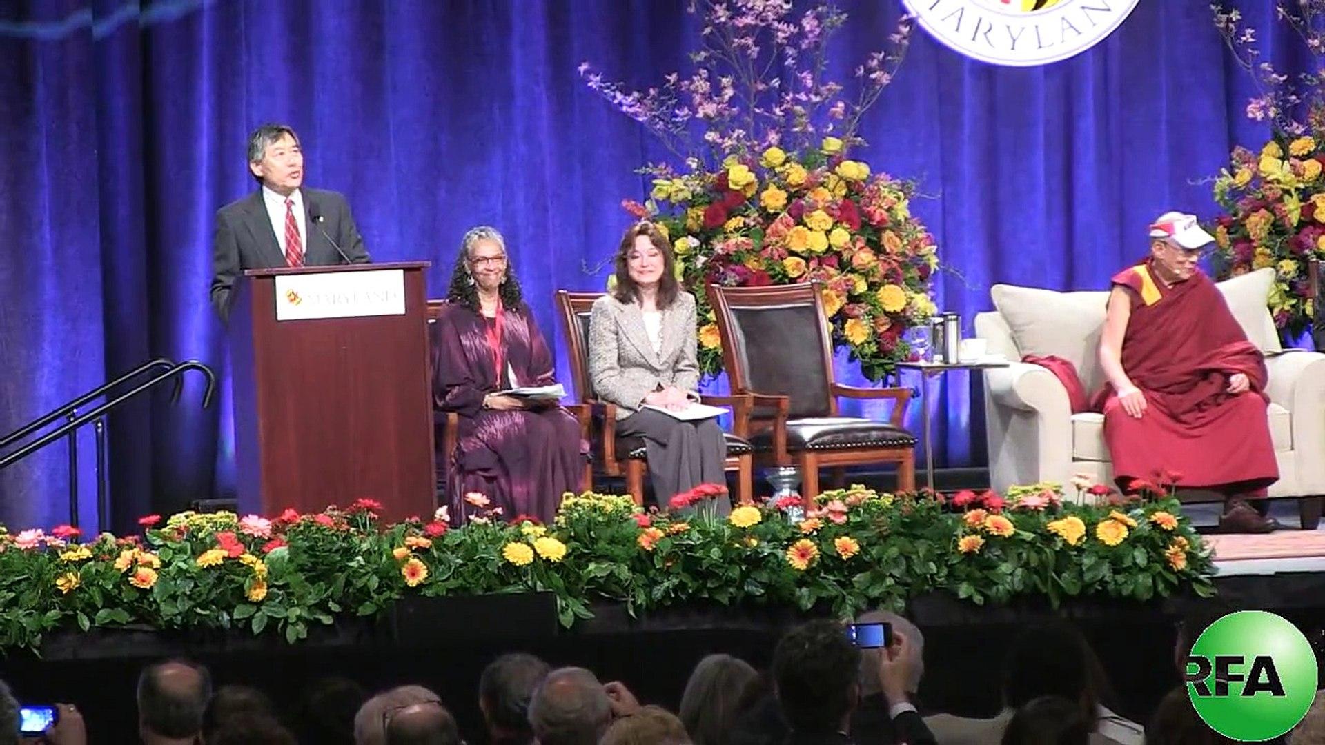 The H.H.Dalai Lama visits the University of Maryland at College Park Tuesday,May 07,2013.