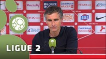 Conférence de presse Stade Brestois 29 - Dijon FCO (0-0) : Alex  DUPONT (SB29) - Olivier DALL'OGLIO (DFCO) - 2014/2015
