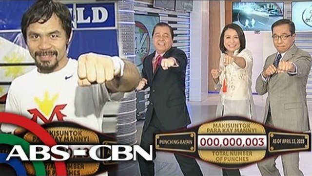 ABS CBN News anchors, reporters, and employees support the #OneForPacman campaign campaign