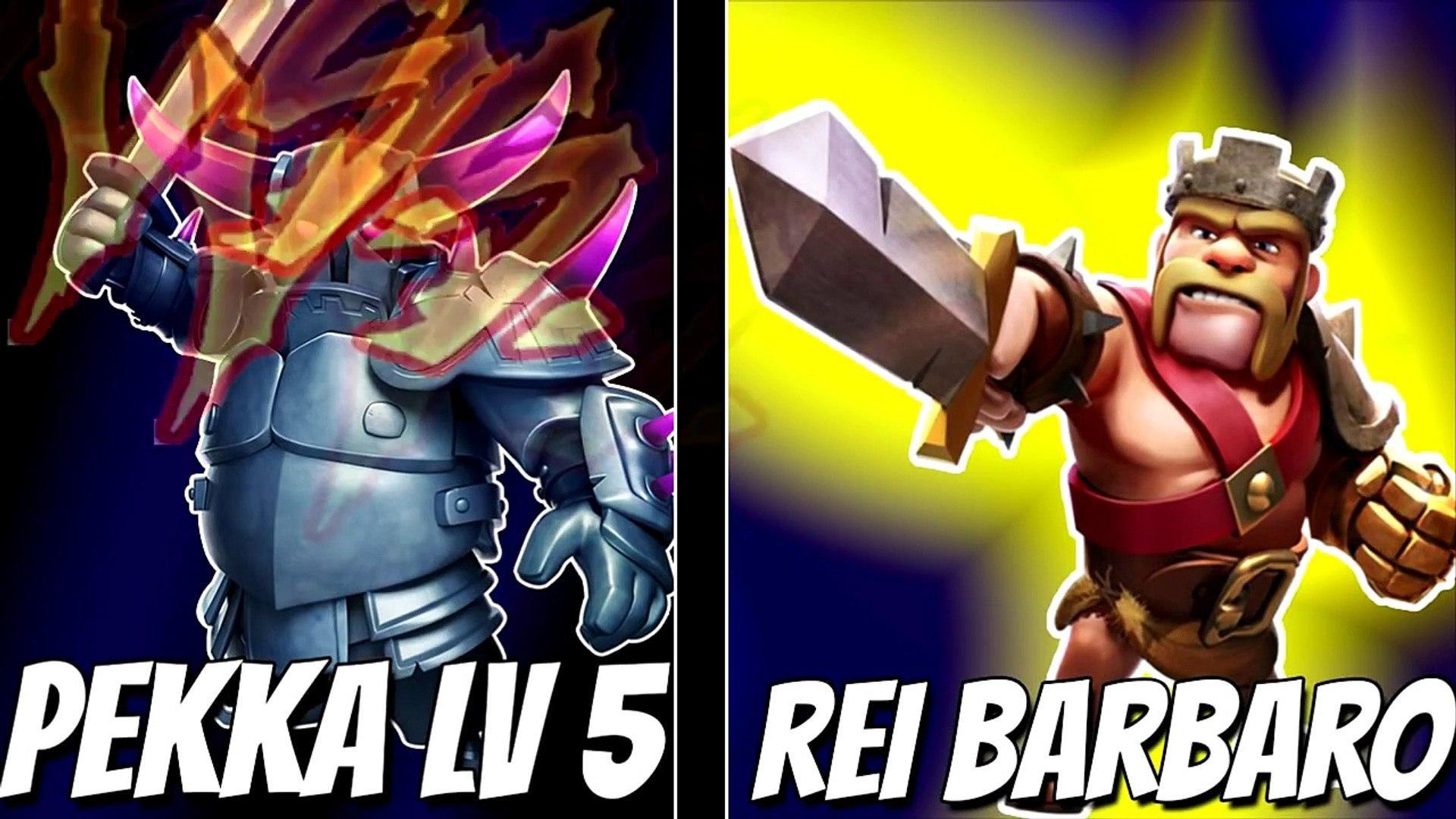 Clash Of Clans Pekka Lv 5 Vs Heroes Video Dailymotion