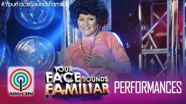 """Your Face Sounds Familiar: Nyoy Volante as Sylvia La Torre - """"Sa Kabukiran"""""""