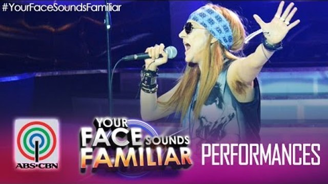 """Your Face Sounds Familiar: Jolina Magdangal as Axl Rose - """"Sweet Child of Mine"""""""