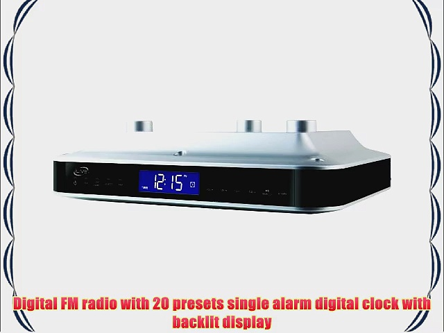 Portable iLive iKB333S Under Cabinet Radio with Bluetooth Speakers (Silver) Consumer Electronic