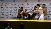 Robinho festejó cantanto título del Santos en Torneo Paulista