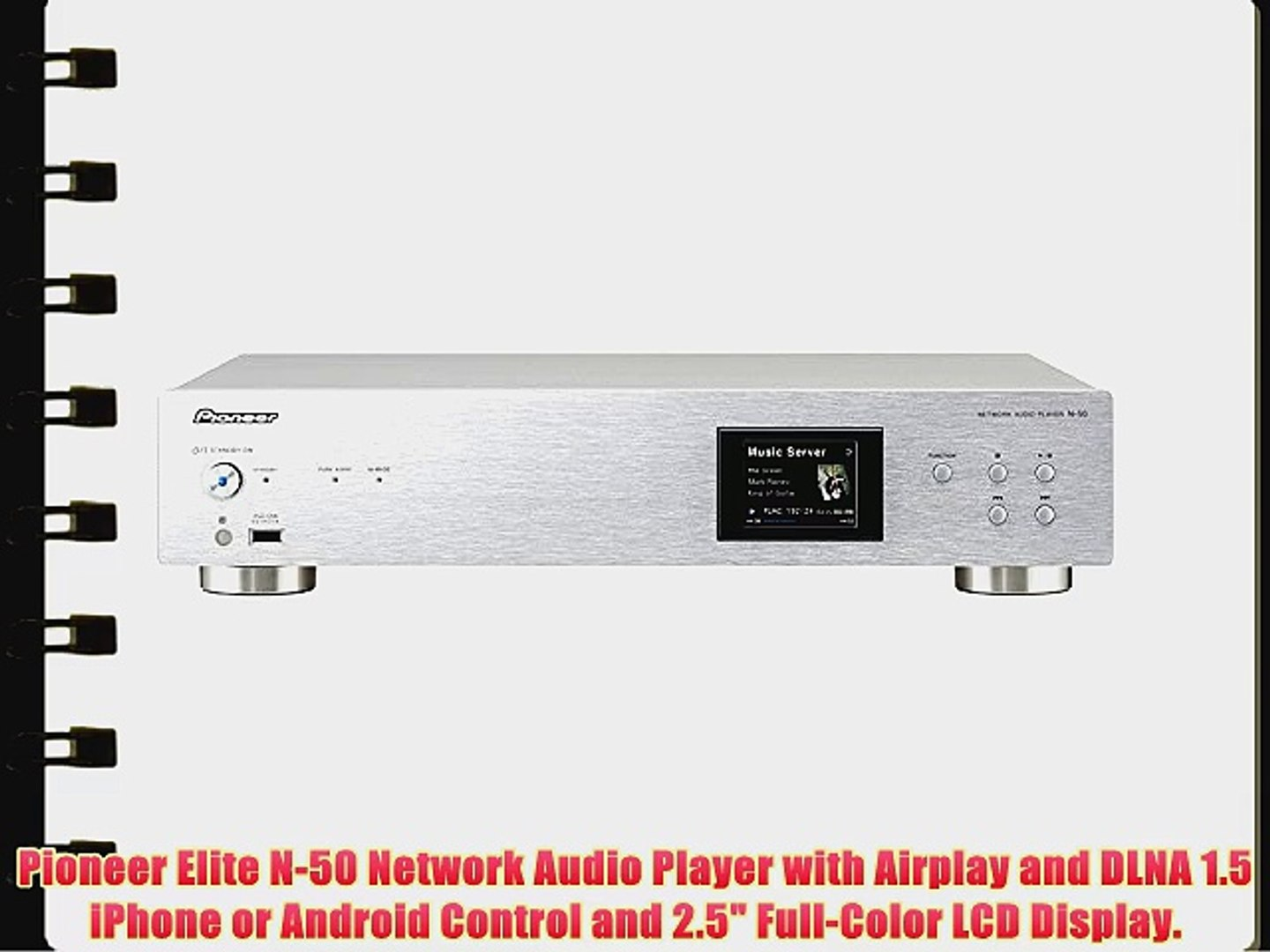 Pioneer Elite N-50 Network Audio Player with Airplay and DLNA 1 5 iPhone or  Android Control
