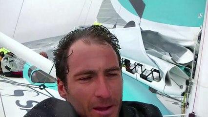 Premières navigations de Morgan Lagravière à bord du nouveau Safran