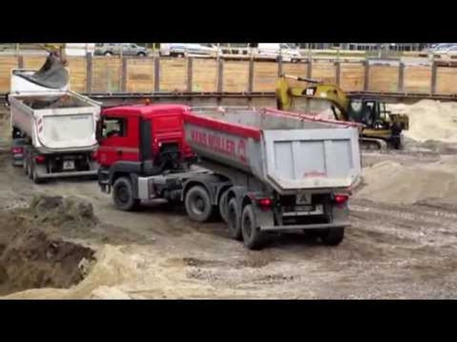 RUSH HOUR IN CONSTRUCTION SITE ❢ EXCAVATORS LOADING CONVOY OF DUMP TRUCKS