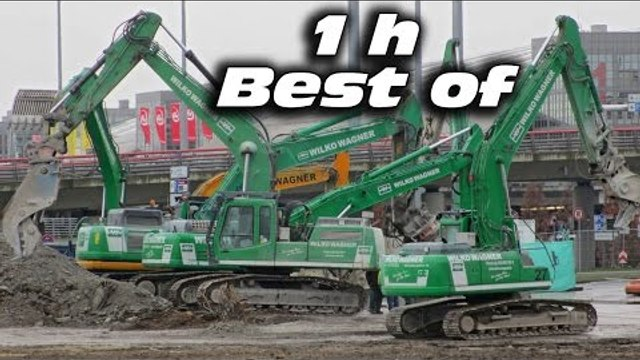 ★ BEST OF CONSTRUCTION SITE ★ DEMOLITION EXCAVATORS IN ACTION TEARING DOWN CAR PARK 1h MOVIE