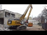 CAT 349E Longfront TIRS Abbruch Hotel high reach demolition excavator