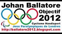 Johan Ballatore Coureur Cycliste Handisport Jeux Olympiques Paralympiques Londres 2012 Cyclisme  LC1