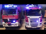 RC FIRE TRUCK, BLUE LIGHTS, - FIRE TRUCKS, R/C FIRE ENGINE Scania & Mercedes Benz