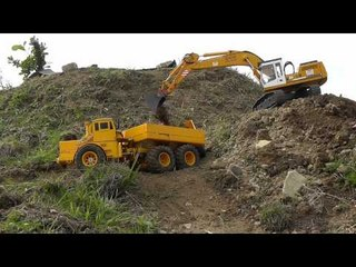 RC DUMP TRUCK K-700 AT WORK, THE BEST RC MOVIS, BEST OF RC ROAD WORKER