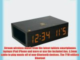 NFC Alarm Clock Speaker System with USB Charging and LED Display by GOgroove - Works With Apple