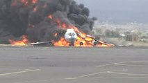 Saudi-led airstrikes hit military plane at Sanaa International Airport