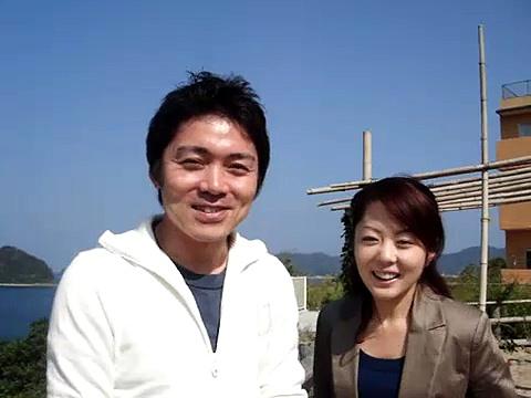 NHK広島の高瀬耕造アナウンサーと山田一穂アナウンサー