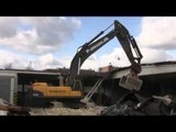 Volvo EC460C On A Demolition Site