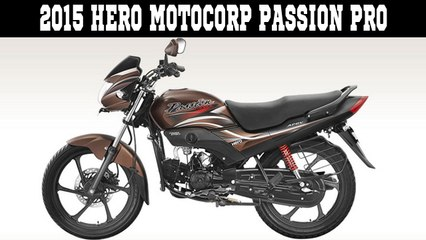 2015 Hero MotoCorp Passion Pro Launched In India