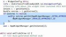 167. Android Application Development Tutorial - 167 - PendingIntent and widget Buttons