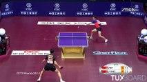 Le très beau point de la finale des championnats du monde de tennis de table