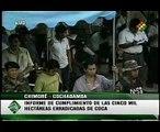 Evo Morales suspende actividades de la DEA en Bolivia - Informe erradicación de coca 2/3