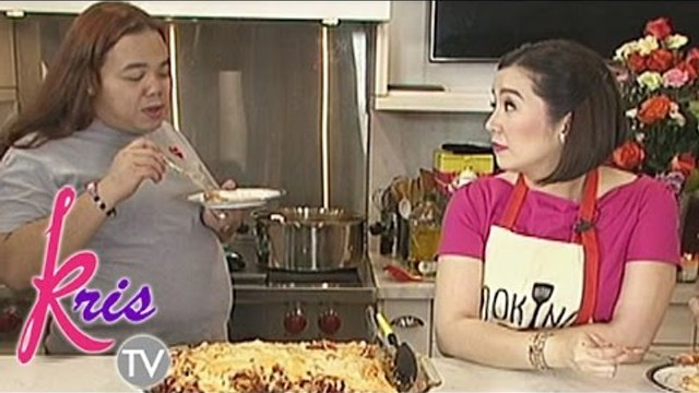Kris shares her 'makasalanang' spaghetti to her friends