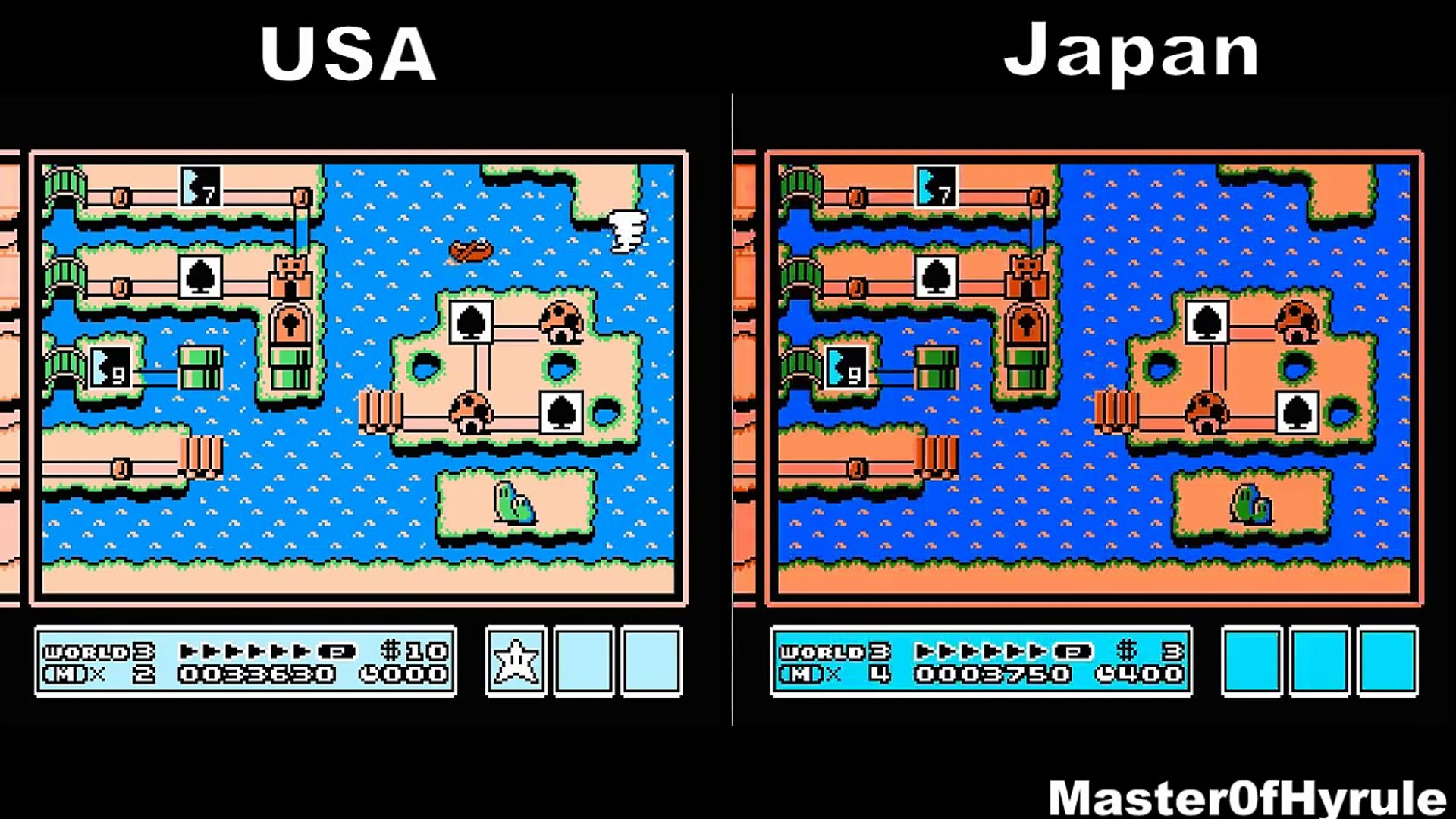 Super Mario Bros 3 English Vs Japanese Comparison Usa Vs Japan