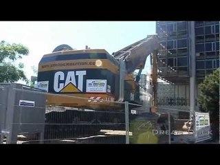 Caterpillar 5110B HRD88 Abbruchbagger Messeturm worlds largest demolition excavator