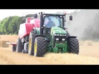 Jonh Deere 8530 MF 2190 Baler ProLand Bale Wagon