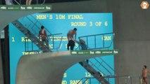 Streaker jumps into pool at Diving World Series - World Diving Championship Hijack