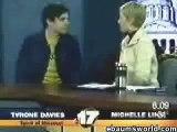 Tyrone Davies puking on live tv [Live Puke]
