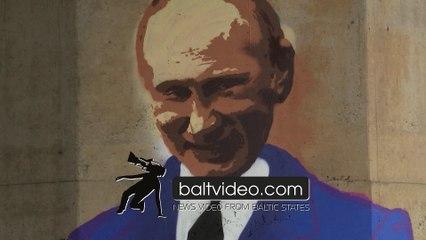Graffiti with Putin appeared in Tartu