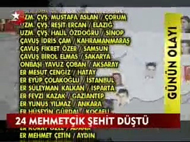 Son Dakika - Hakkari'de 24 Şehit - STAR TV HABER 19.10.2011