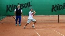 Roland-Garros 2015 - Ruben Bemelmans à l'entrainement sur terre à l'Académie Justine Henin