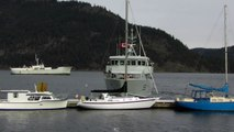 Canadian Navy Ship Orca 55 Cowichan Bay Vancouver Island British Columbia Canada
