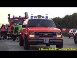 Zwei VU mit LKW auf A8 [Chaos auf der BAB 8] | Feuerwehr Kirchheim-Teck & Weilheim im Einsatz [KINO]