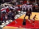 Scottie Pippen scores career high! Nuggets @ Bulls 1997