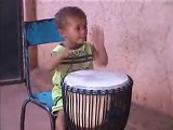 2 Year Old Djembe Drummer...