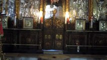 The Church of Nativity - The main Greek Orthodox altar with the Orthodox iconostasis