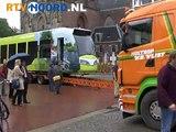 Tram op Grote Markt in Groningen
