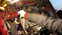 Nissan - How to replace valve cover gasket & tune-up.(2000 yr)Altima 2.4 Twin cam. Pt 1/2