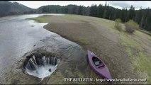 Aux États-Unis, un mystérieux lac se vide dans un étrange gouffre